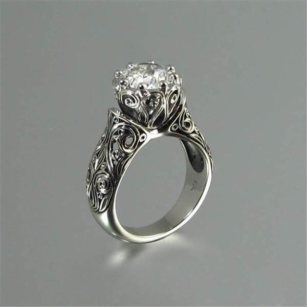 טבעת הכלה מאיסטנבול צבע כסף (המחיר כולל משלוח)