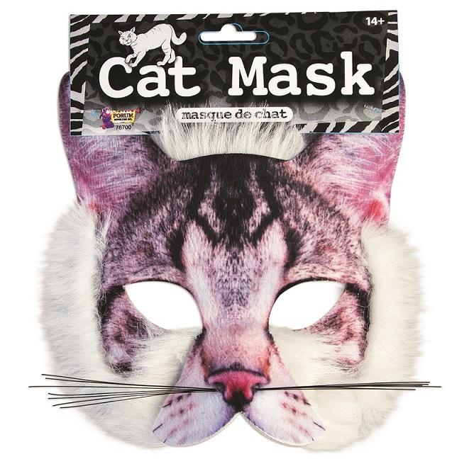 מסכה חתול/ה פנים מלאות פלוש