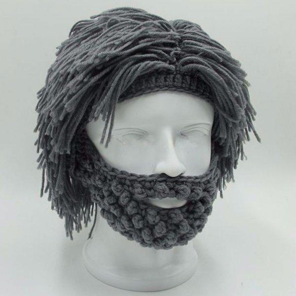 כובע גרב מחמם בצורת שיער ראש וזקן
