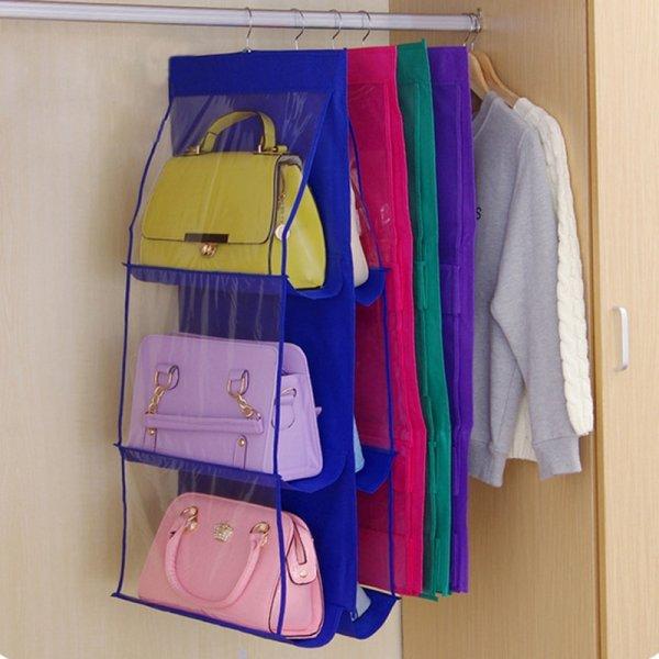 מתלה נוחות לתליית 6 תיקים בארון הבגדים