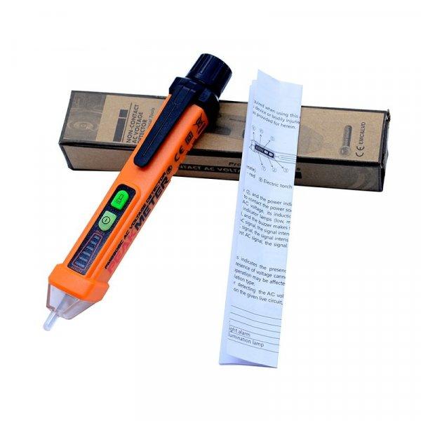 מכשיר לבדיקת זרם חשמלי ללא מגע ישיר דרך קירות, חוטים ועוד