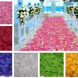 1,000 עלי ורדים מספנדקס לקישוט במגוון צבעים