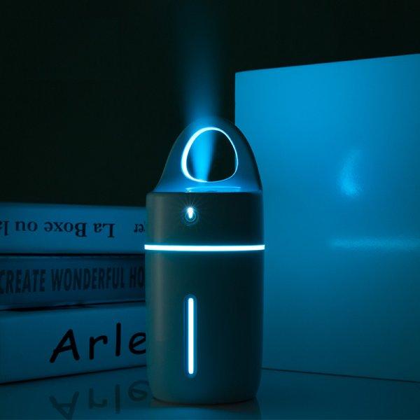 מיני מטהר אוויר עם מנורת לילה בצבעים שונים