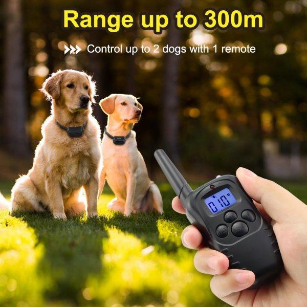קולר חשמלי עם שלט רחוק לאילוף ושליטה בכלבים