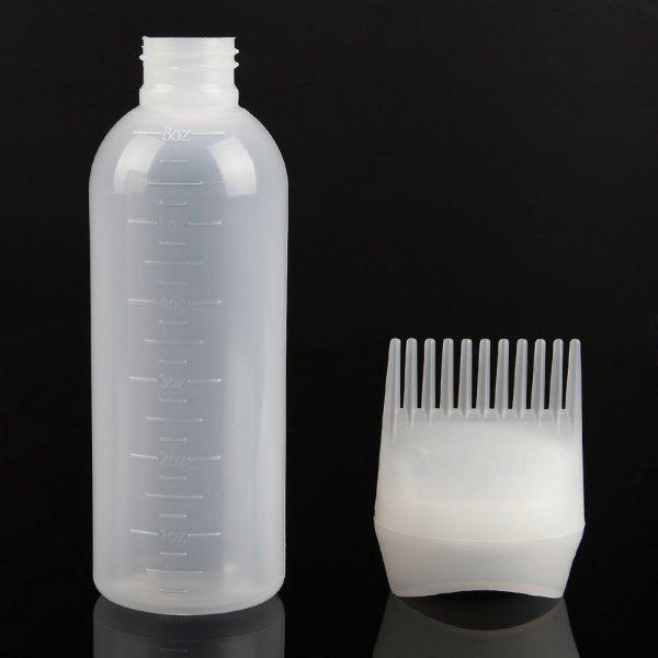 בקבוק צבע שיער / שמפו משולב עם מסרק