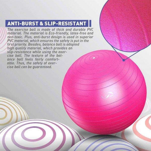 כדור פילאטיס במגוון צבעים וגדלים עם משאבת אוויר במתנה