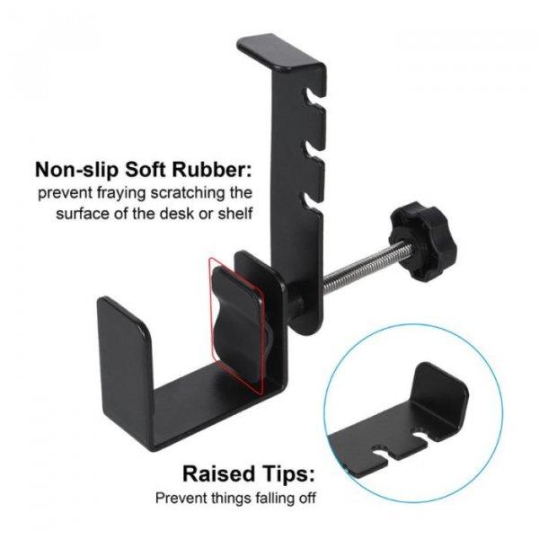 מעמד לתליית אוזניות מתחת לשולחן
