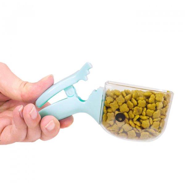 כף למילוי אוכל עם קליפס מובנה לסגירת שקיות