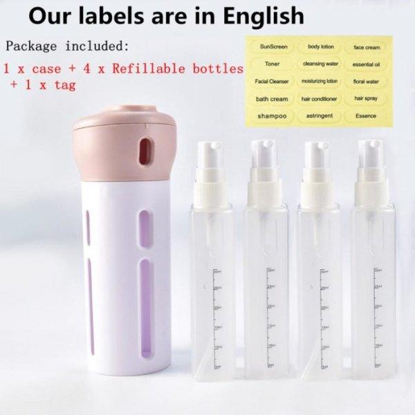 בקבוק שמפו לאחסון ושימוש של 4 סוגים שונים ב-1