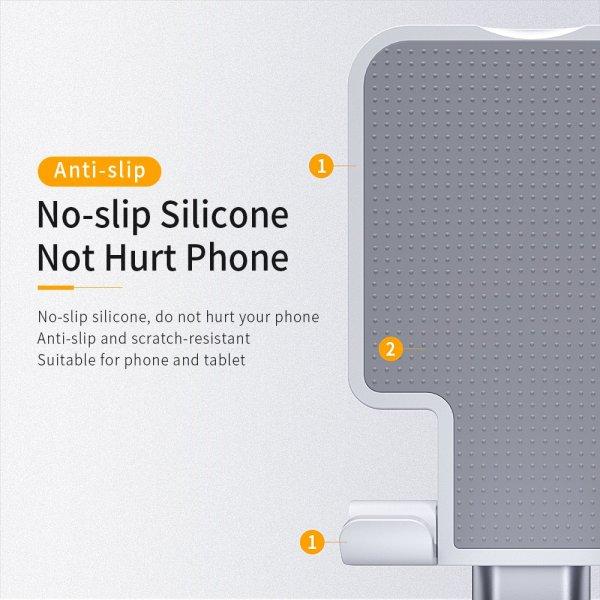 מעמד לטלפונים וטאבלטים על שולחן העבודה