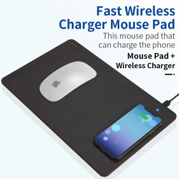 משטח הטענה אלחוטי לטלפון משולב פד לעכבר