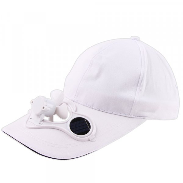 כובע מצחיה עם מאוורר סולארי