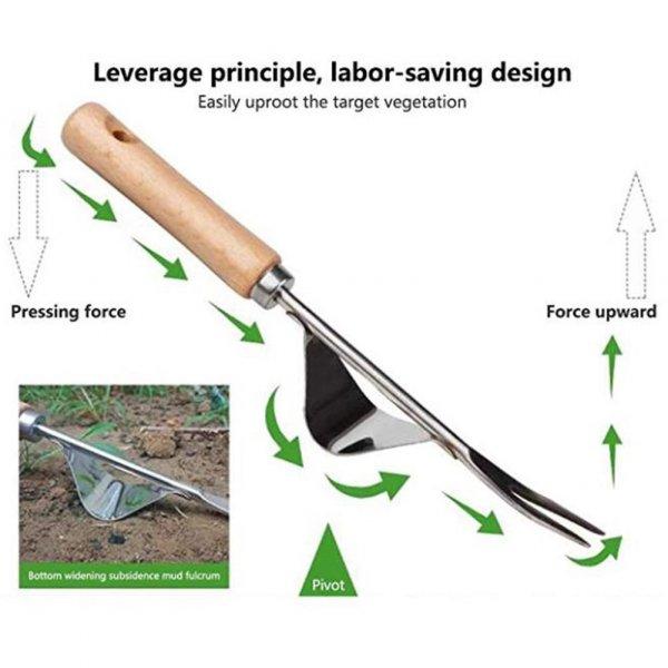 כלי לעקירת עשבים שוטים מהשורש בקלות