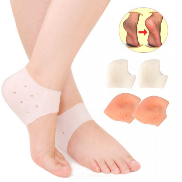 זוג פדים מסיליקון למניעת עור יבש וכאבים בכף הרגל