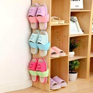 ארגונית נעליים נצמדת לקיר