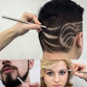 סכין גילוח מקצועית לעיצוב פנסים וחיתוך שיער בצורה מדויקת