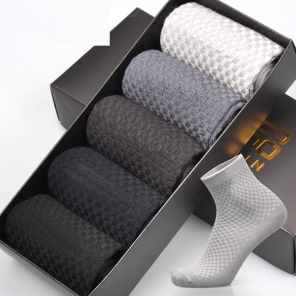 גרביים נושמות עשויות במבוק בעלות יכולת ספיגה גבוהה – סט 5 זוגות