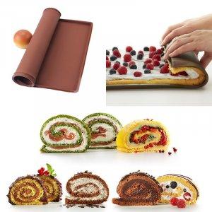 תבנית סיליקון בלתי דביקה לגלגול מושלם של עוגות