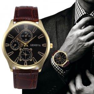שעון דמוי עור איכותי GENEVA לגבר