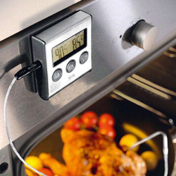 מודד חום + טיימר למטבח