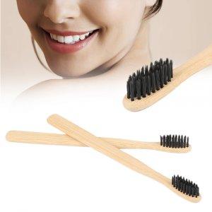 מברשת שיניים עם סיבים מבמבוק להלבנה וצחצוח יסודי