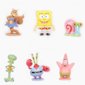 6 בובות בובספוג וחברים מהסדרה לקישוט ועוד