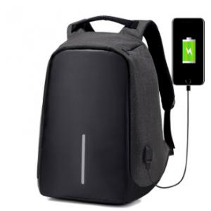 תיק גב נגד כייסים חסין מים + חיבור USB להטענת הסלולרי