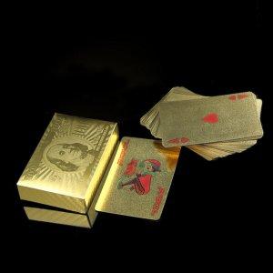 קלפים איכותיים מצופים זהב 24 קראט